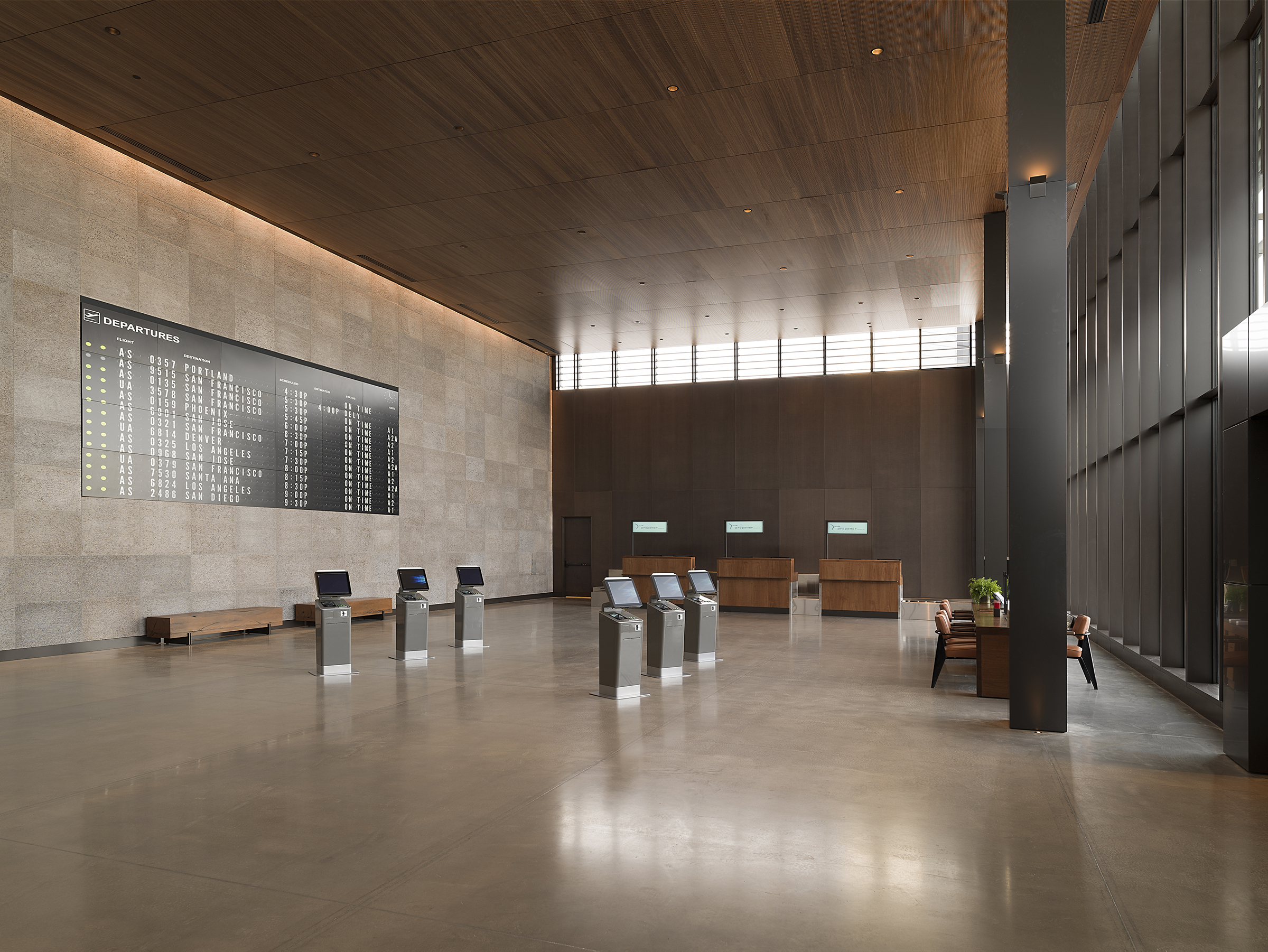 Ticketing Hall at Paine Field